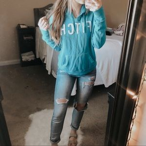 Abercrombie & Fitch Blue Logo Hoodie